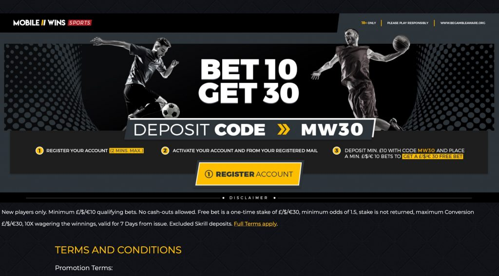 Claim 30 In Free Bets At Mobile Wins Updated July 2020